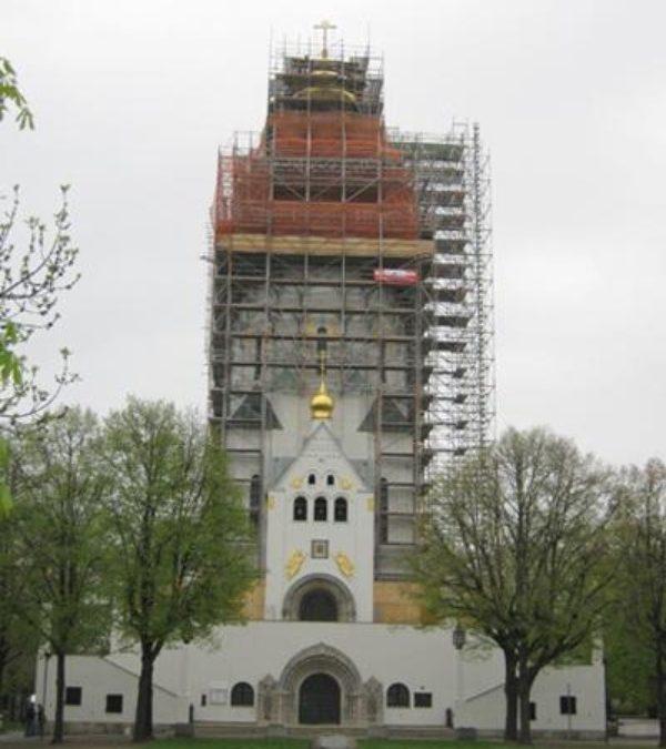 Turmsanierung der Russischen Gedächtniskirche zu Leipzig