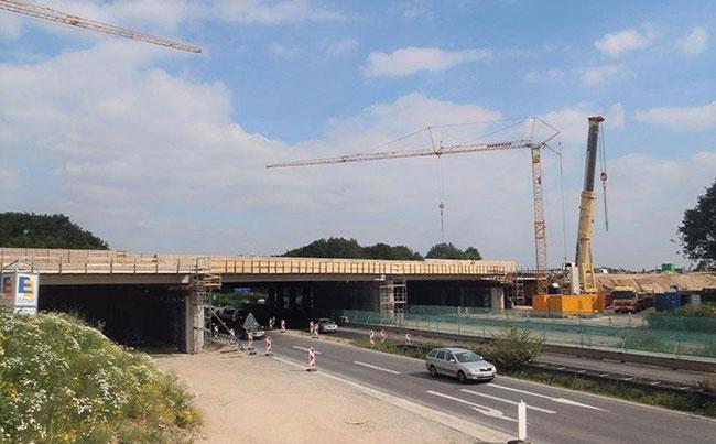 Ersatzneubau Autobahnkreuz Kaarst, BAB 52 / BAB 57