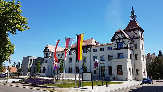 Rathaus Stadt Bad Dürrenberg, Umbau und Erweiterung
